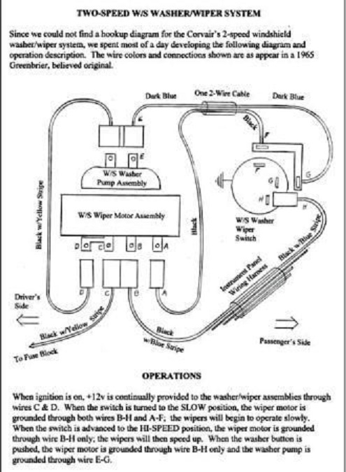 1972 Chevelle Wiper Motor Wiring Diagram - Wiring Solutions