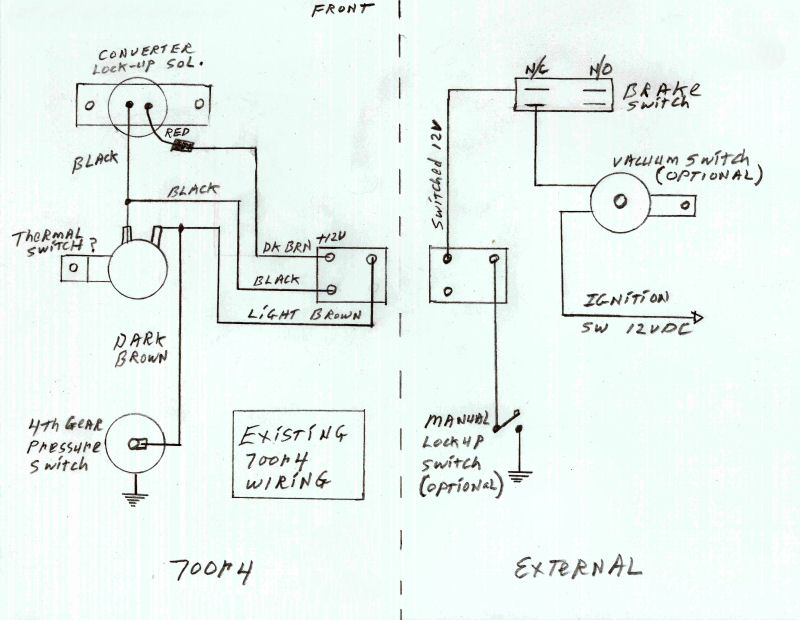 700r4 lock up question - chevelle tech, Wiring diagram