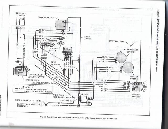 1971 El Camino A C Wiring Diagram Chevelles Com
