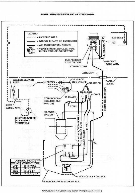 Anyone Have A Wiring Diagram For A 69 Air Conditioner Chevelles Com