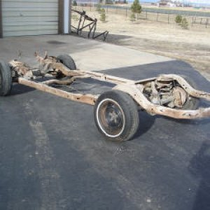 Bare rolling ( and rusty) chassis