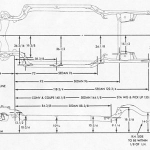 68-72 A-body Frame dimensions