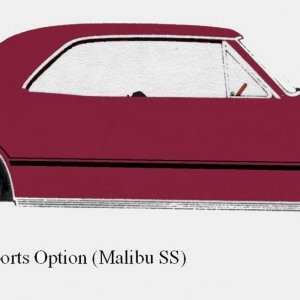 67 Malibu SS 396 -Vermillion with D96