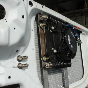 External tranny cooler mounted