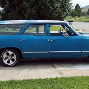 "1967 Malibu Wagon - ""Sally"" - from the side"